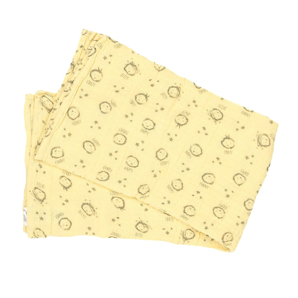 KITIKATE Mušelínová plienka Sari Yellow