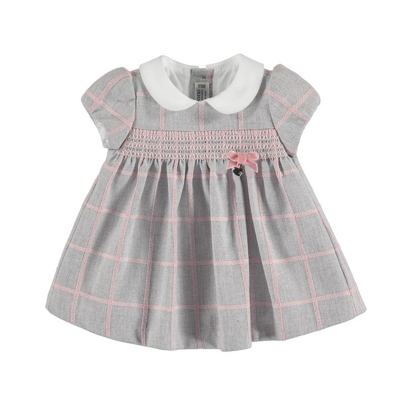 MAYORAL Šaty layette girl silver č.4-6m