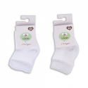 KITIKATE Ponožky White č.3-6m, 2ks