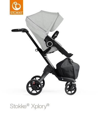 STOKKE Xplory V6/Trailz športová časť black melange, bez podvozku a madla