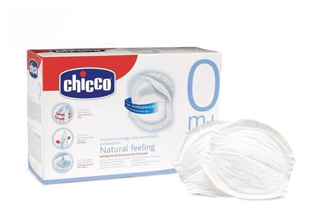 CHICCO Superabsorbčné antibakteriálne tampóny 60 ks do podprsenky