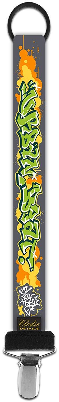 ELODIE DETAILS Držiak na cumlík urban beat graphiti
