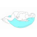 LITTLE ANGEL Poťah na vankúš na dojčenie modro biele kocky