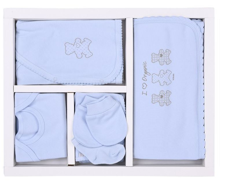 KITIKATE Novorodenecký 10-dielny set Organic Blue