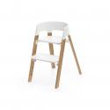 STOKKE Steps stolička OAK Natural + plastový sedák White