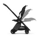 BUGABOO Ant Podvozok BLACK poťah športového sedadla GREY MELANGE strieška GREY MELANGE