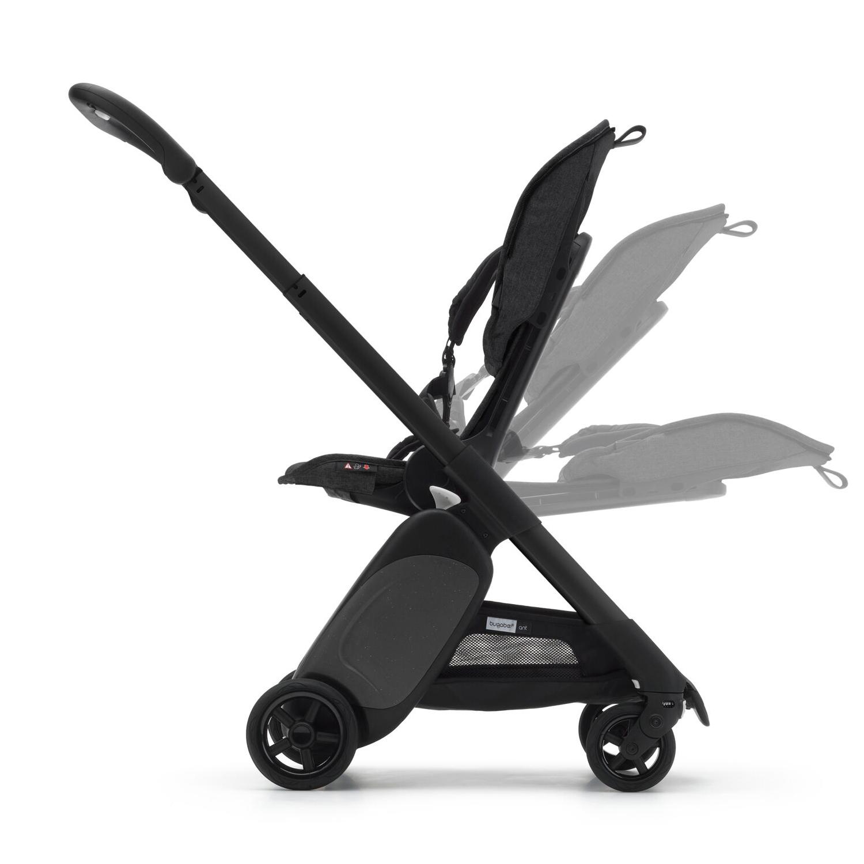 BUGABOO Ant Podvozok BLACK poťah športového sedadla GREY MELANGE strieška PINK MELANGE
