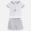 MAYORAL Set tričko + kraťasy Perla Vig č.2-4m