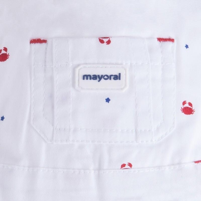 MAYORAL Chlapčenské nohavice červená farba 2-4m