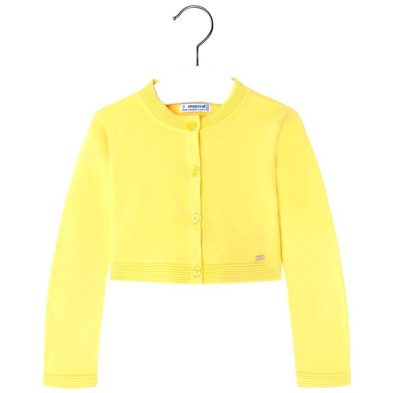 MAYORAL Cardigan Basic žltý č.104