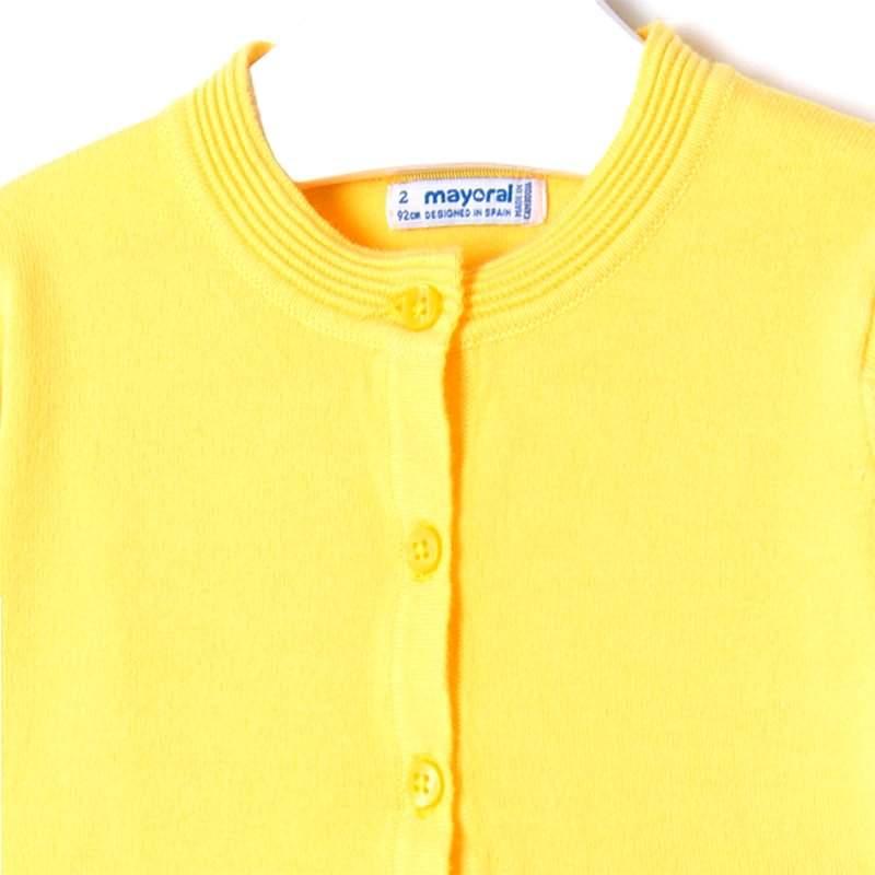 MAYORAL Cardigan Basic žltý č.116