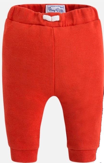 MAYORAL Tepláky červené s bielou šnurkou č.4-6m