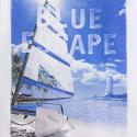 MAYORAL Tričko biele Blue escape č.104