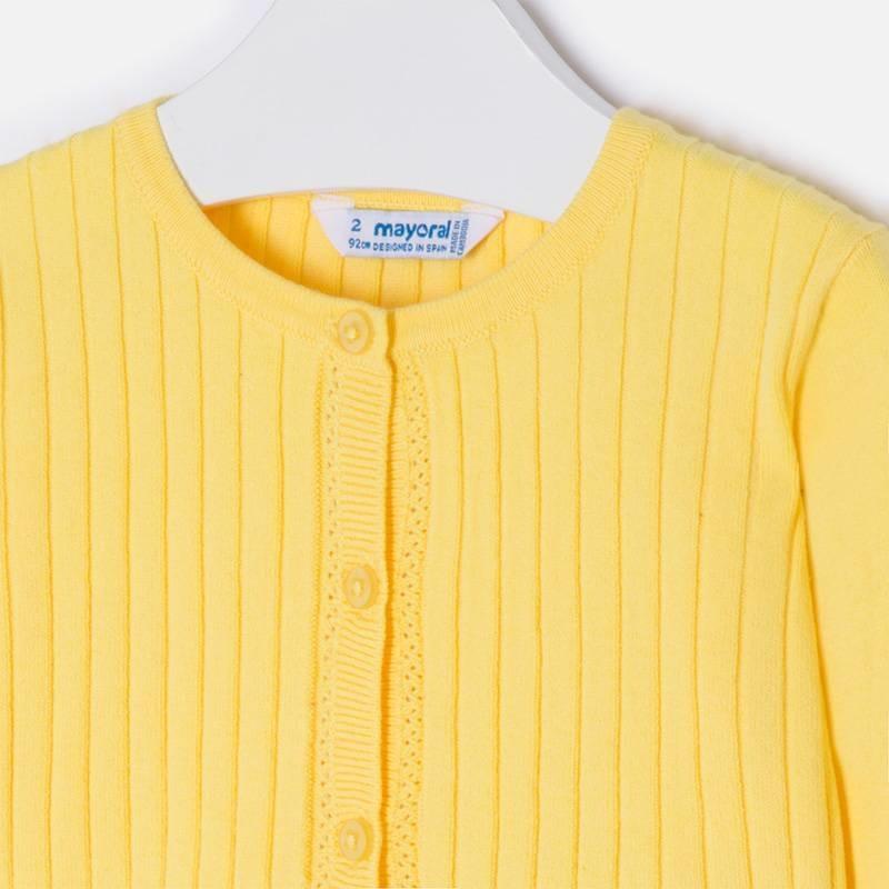 MAYORAL Svetrík dievčenský žltý č.104