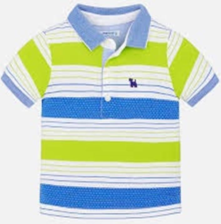 MAYORAL Tričko stripes Polo so psíkom č.98
