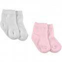 KITIKATE Ponožky Ecru-Pink č. 3-6m, 2ks