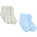 KITIKATE Ponožky Ecru-Blue č.12-18m, 2ks