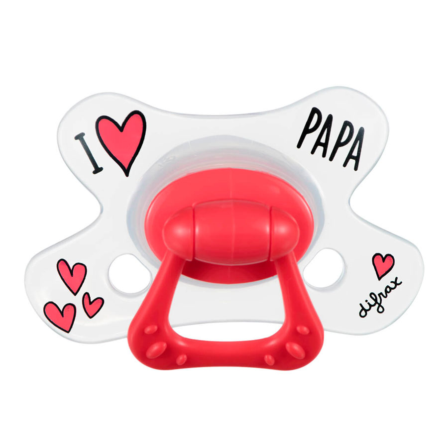 DIFRAX Cumlík Natural I LOVE PAPA 12-18 m
