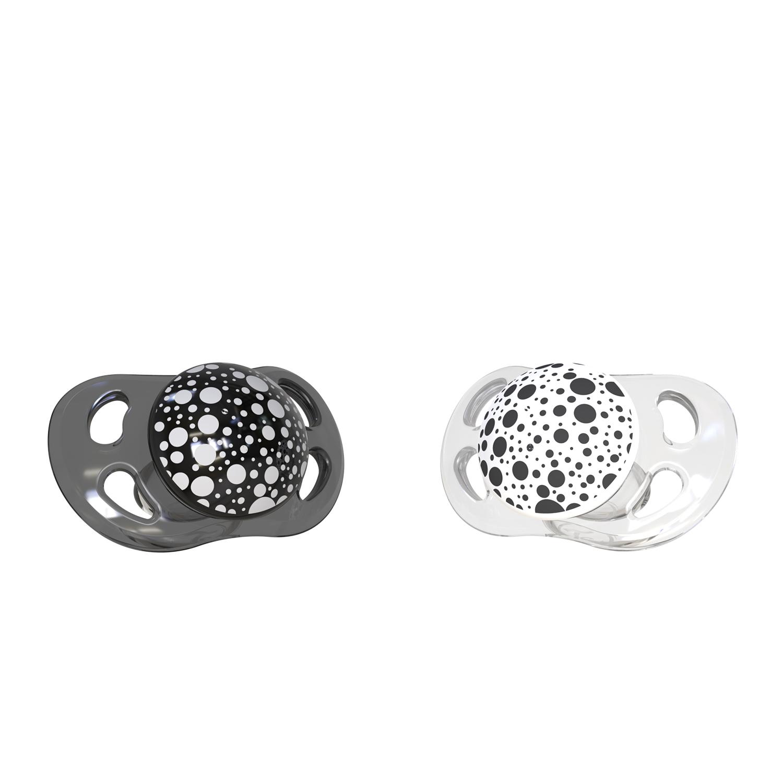 TWISTSHAKE Cumlík mini 0-6m 2ks - Čierna a biela