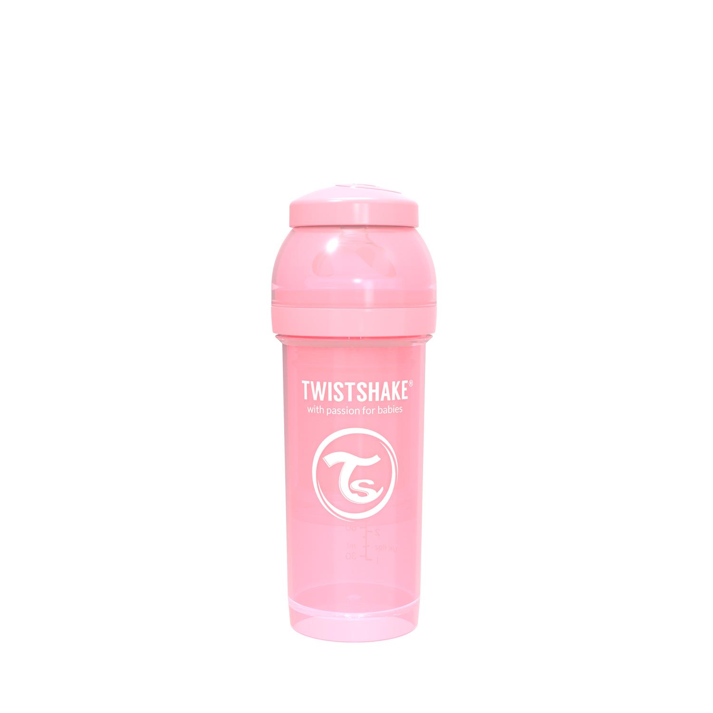 TWISTSHAKE Dojčenská fľaša Anti-Colic 260ml (cuml.M) - Pastelovo ružová