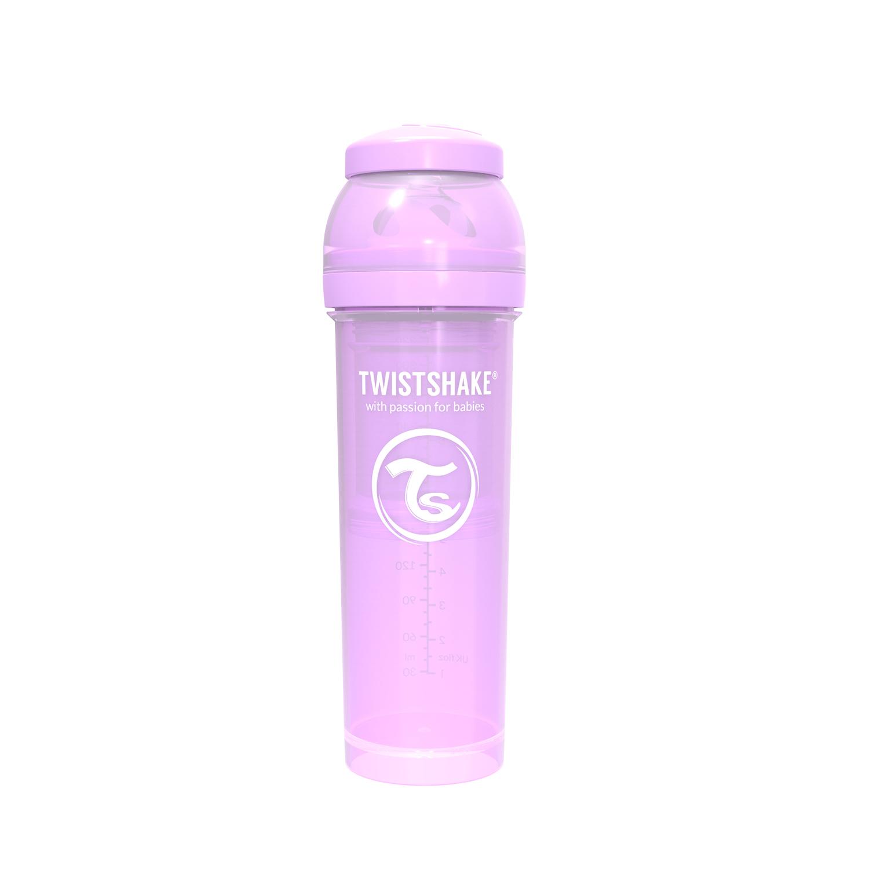 TWISTSHAKE Dojčenská fľaša Anti-Colic 330ml (cuml.L) - Pastelovo fialová