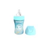 TWISTSHAKE Dojčenská fľaša Anti-Colic nerezová 260ml (cuml.M) - Mramorovo modrá