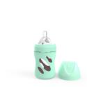 TWISTSHAKE Dojčenská fľaša Anti-Colic sklenená 180ml (cuml.S) - Pastelovo zelená