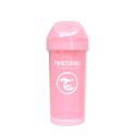 TWISTSHAKE Fľaša pre batoľatá 360ml 12+m - Pastelovo ružová