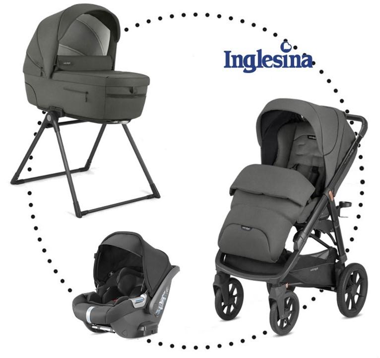 INGLESINA Aptica XT 3.kombinácia - Charcoal Grey hlboká vanička, športová sedačka, autosedačka CAB