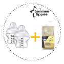 TOMMEE TIPPEE Set Fľaša 150 ml 2ks + Cumlíky pre Fľaše VARIFLOW 0m+ 2ks