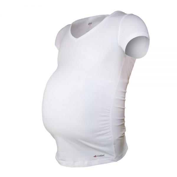 LITTLE ANGEL Tričko Tehotenské KR Outlast biela - L