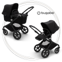 BUGABOO Fox 2 - 2. kombinácia Podvozok BLACK, poťah športového sedadla, hlboká vanička BLACK strieška BLACK