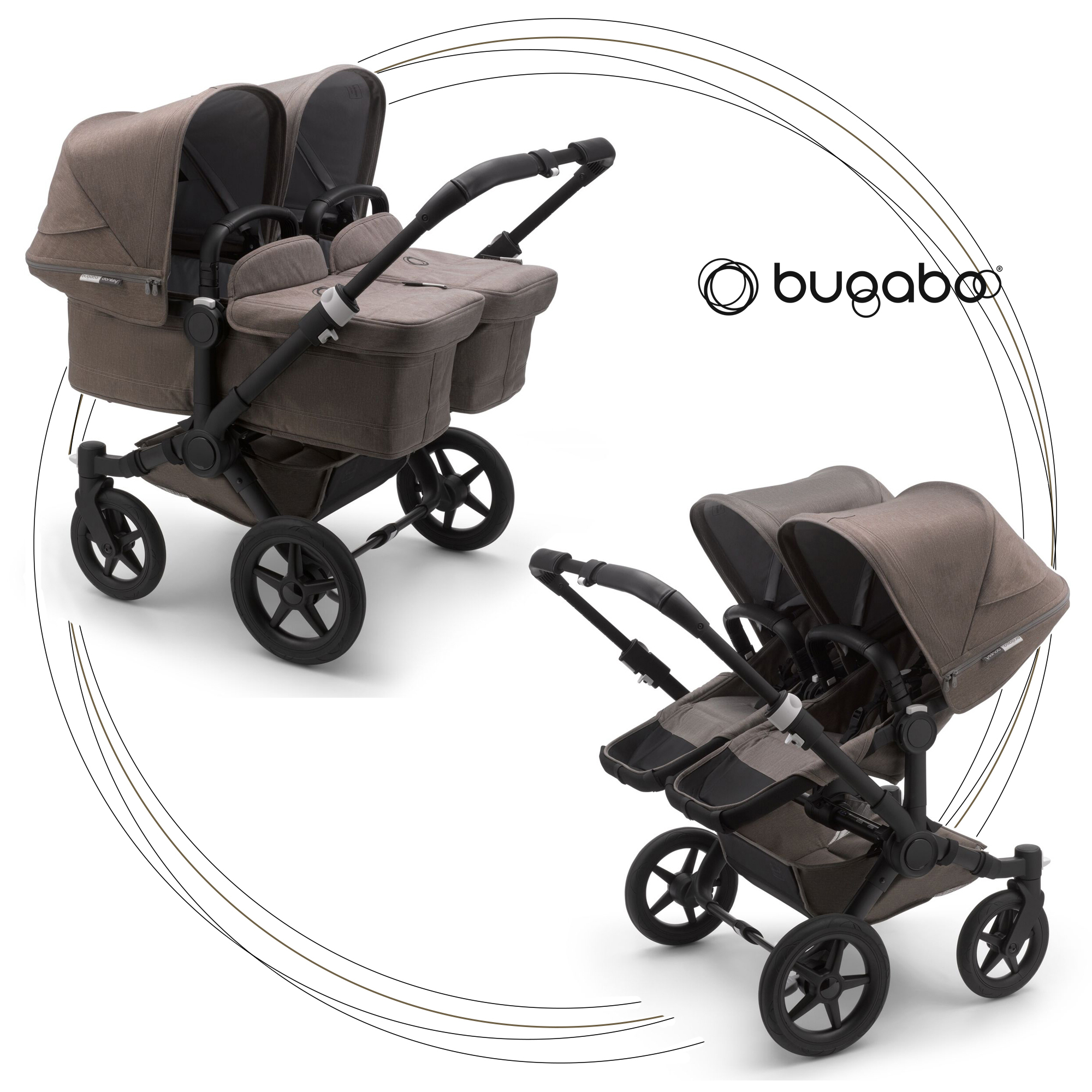 BUGABOO Donkey 3 Twin Mineral Colection TAUPE