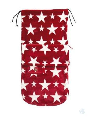 BuggySnuggle Fusak Fur Red/White Stars