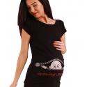 MAMIMODE Tričko s motívom COMING SOON Black krátky rukáv