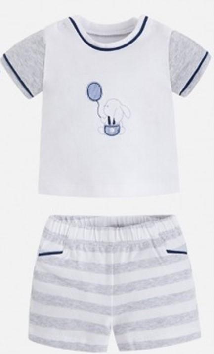 MAYORAL Set tričko + kraťasy Perla Vig Stripes