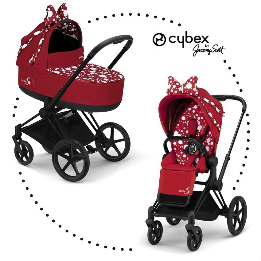CYBEX PRIAM Jeremy Scott Petticoat Red športový kočík a hlboká vanička