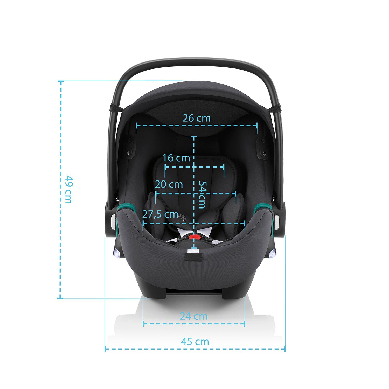 BRITAX-ROMER Baby-Safe iSense Bundle Flex iSense - Space Black
