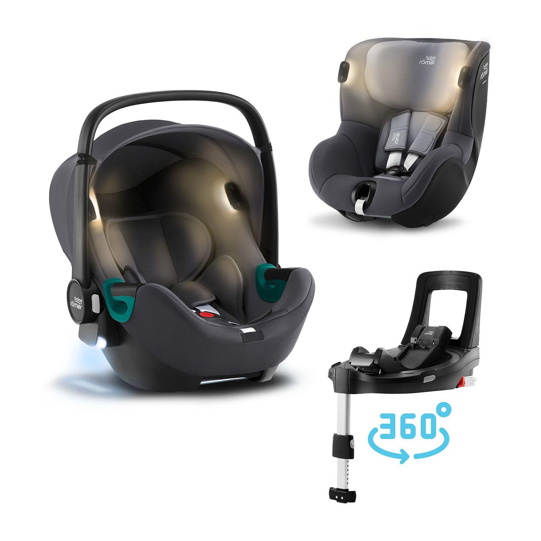 BRITAX-ROMER Baby-Safe iSense+Báze FLEX BASE Isense+autosedačka DUALFIX iSense - Midnight Grey