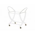 PALI Košík prútený CAPRICE ROYAL so strieškou + stojan White