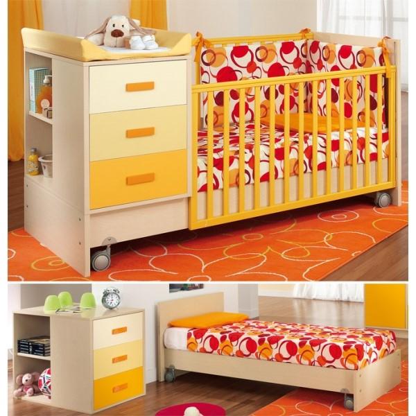 PALI Zoom transformabile posteľ ORANGE
