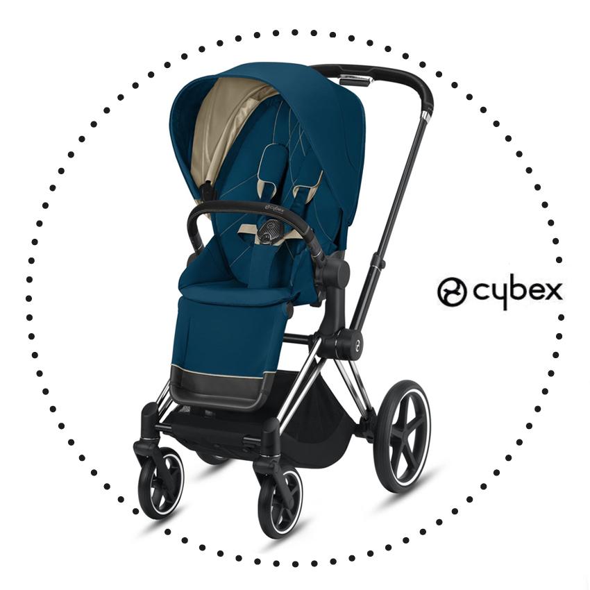 CYBEX PRIAM Chrome Black / Mountain Blue - športový kočík