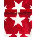 BuggySnuggle Fusak Fur Red/White Stars + darček